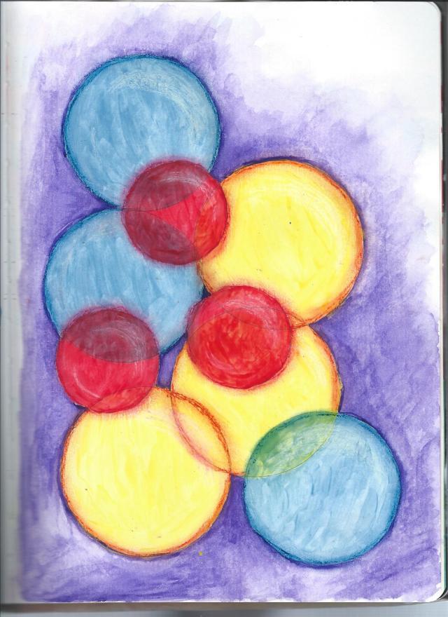 watercolor, acrylic, pastel