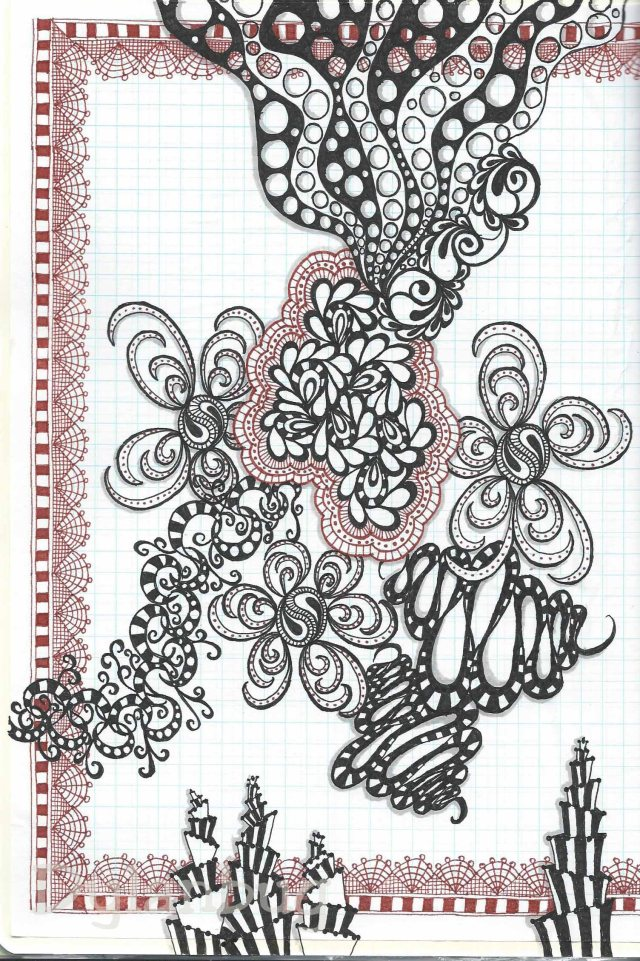 pigment pens and graph paper