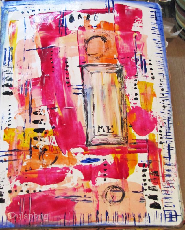 acrylic applied with pallet knife