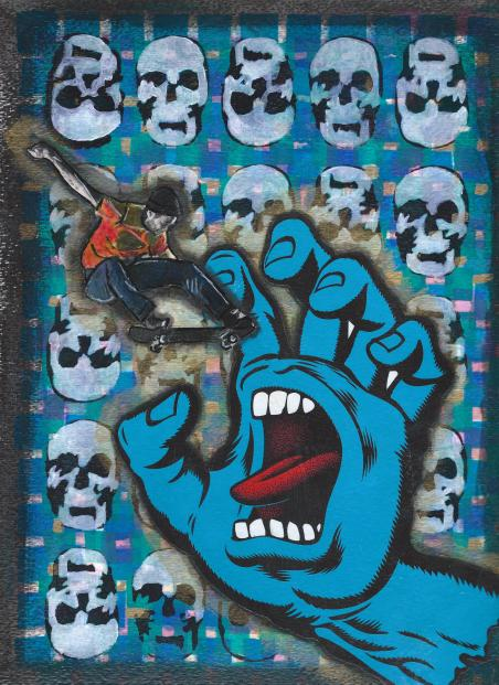 Screaming hand collage